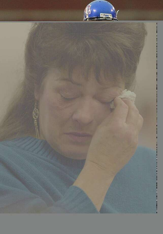 Nancy Gabbert mother of Green River Killer victim Sandra Gabbert, cries as she speaks at  the sentencing of Gary Ridgway in King County Washington Superior Court on Dec. 18, 2003 in Seattle. Photo: Pool, / / 2003 Getty Images
