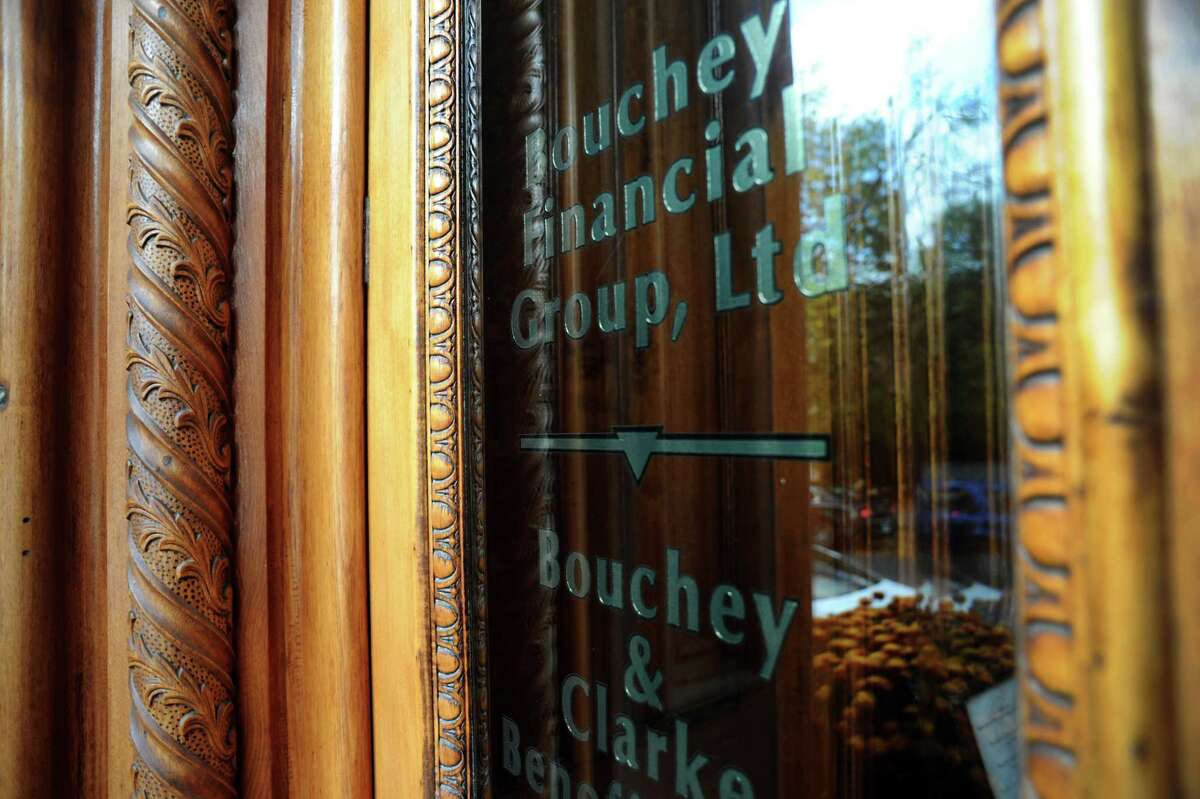 Front door with wood trim detail on Tuesday, Oct. 15, 2013, at Bouchey Financial Group in Troy, N.Y. (Cindy Schultz / Times Union)