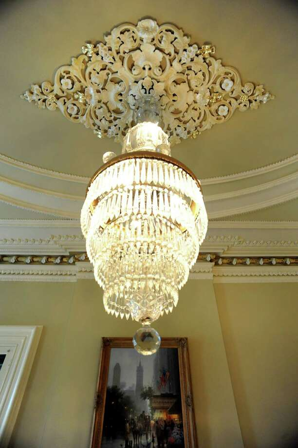 Chandelier in an open office space on Tuesday, Oct. 15, 2013, at Bouchey Financial Group in Troy, N.Y. (Cindy Schultz / Times Union) Photo: Cindy Schultz / 00024231A