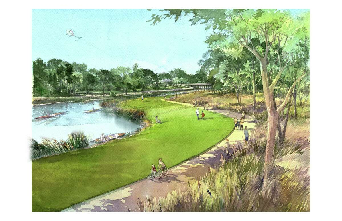 This is a rendering of the planned Bayou Greenways 2020 project. Houston Parks Board / SWA Group
