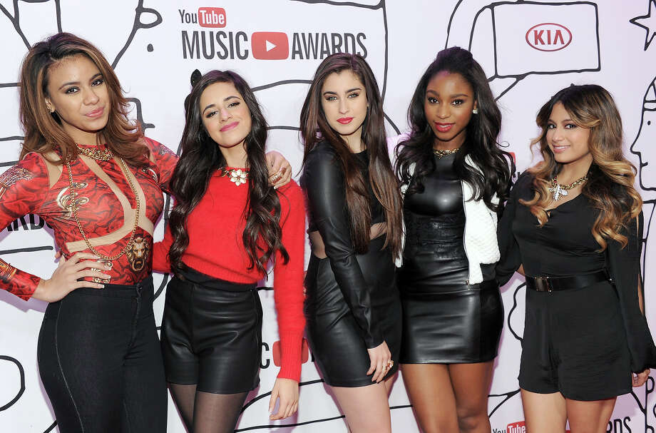 (L-R) Dinah Jane Hansen, Camila Cabello, Lauren Jauregui, Normani Hamilton and Allyson Brooke Hernandez of Fifth Harmony attend the YouTube Music Awards 2013 on November 3, 2013 in New York City. Photo: Dimitrios Kambouris, Getty Images / 2013 Getty Images