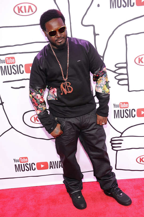 T-Pain attends the 2013 YouTube Music awards at Pier 36 on November 3, 2013 in New York City. Photo: Dimitrios Kambouris, Getty Images / 2013 Getty Images