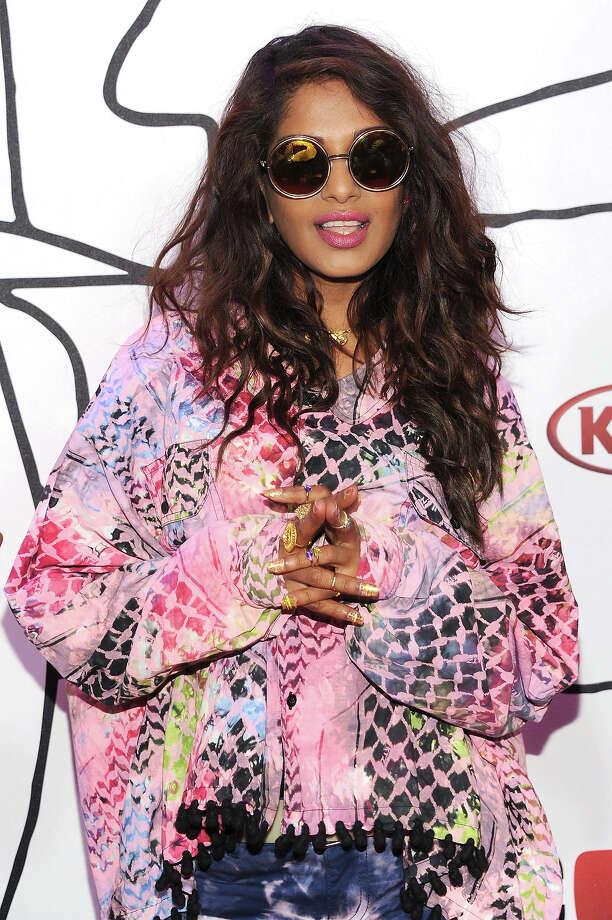 M.I.A. attends the 2013 YouTube Music awards at Pier 36 on November 3, 2013 in New York City. Photo: Dimitrios Kambouris, Getty Images / 2013 Getty Images