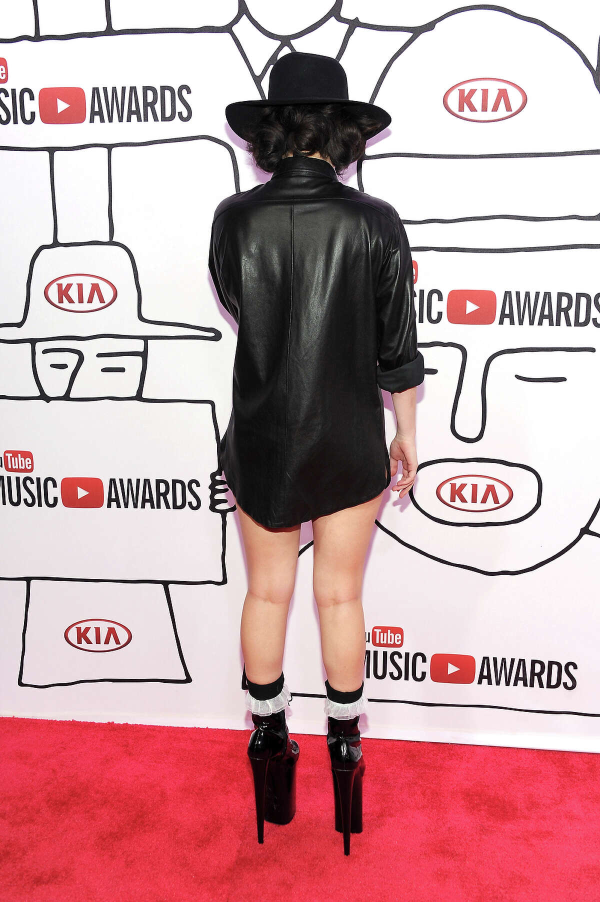 Lady Gaga attends the 2013 YouTube Music awards at Pier 36 on November 3, 2013 in New York City.