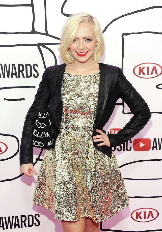 Madilyn Bailey attends the YouTube Music Awards 2013 on November 3, 2013 in New York City. Photo: Dimitrios Kambouris, Getty Images / 2013 Getty Images