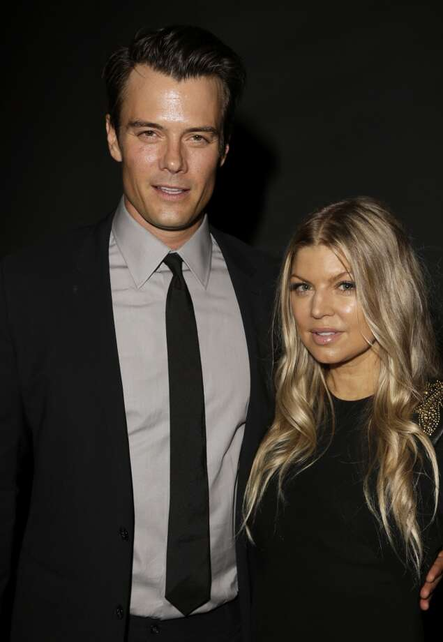 Actor Josh Duhamel (L) and recording artist Fergie attend the LACMA 2013 Art + Film Gala honoring Martin Scorsese and David Hockney presented by Gucci at LACMA on November 2, 2013 in Los Angeles, California. Photo: Jeff Vespa, Getty Images For LACMA