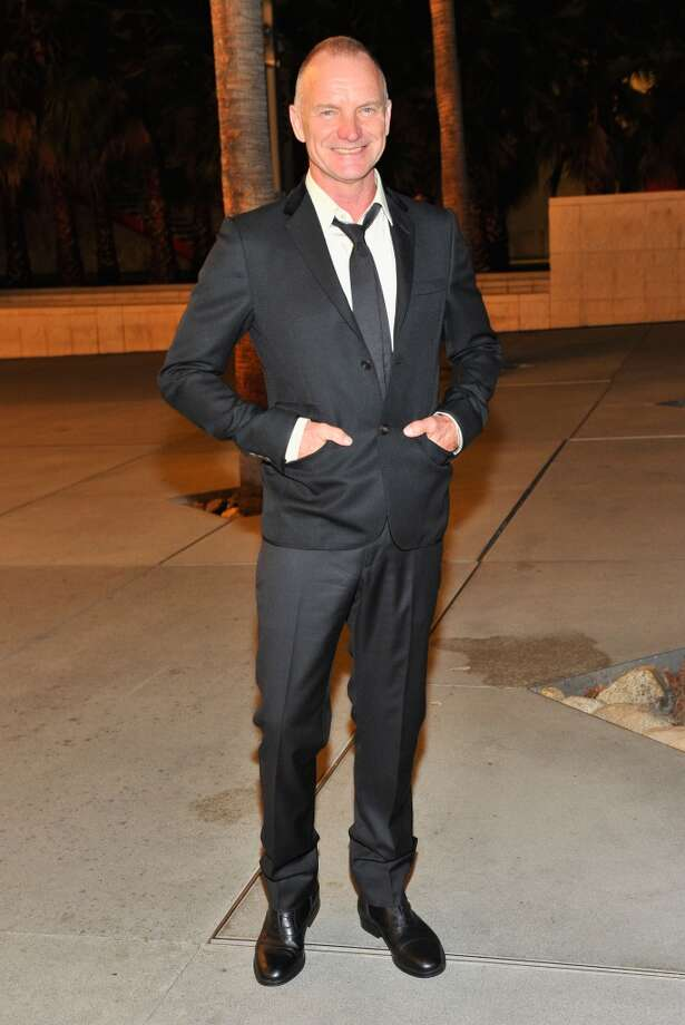 Sting, wearing Gucci, attends the LACMA 2013 Art + Film Gala honoring Martin Scorsese and David Hockney presented by Gucci at LACMA on November 2, 2013 in Los Angeles, California.  (Photo by Donato Sardella/Getty Images for LACMA) Photo: Donato Sardella, Getty Images For LACMA