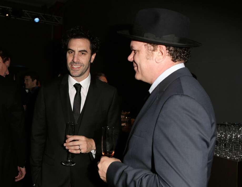Actors Sacha Baron Cohen (L) and John C. Reilly attend the LACMA 2013 Art + Film Gala honoring Martin Scorsese and David Hockney presented by Gucci at LACMA on November 2, 2013 in Los Angeles, California. Photo: Jeff Vespa, Getty Images For LACMA