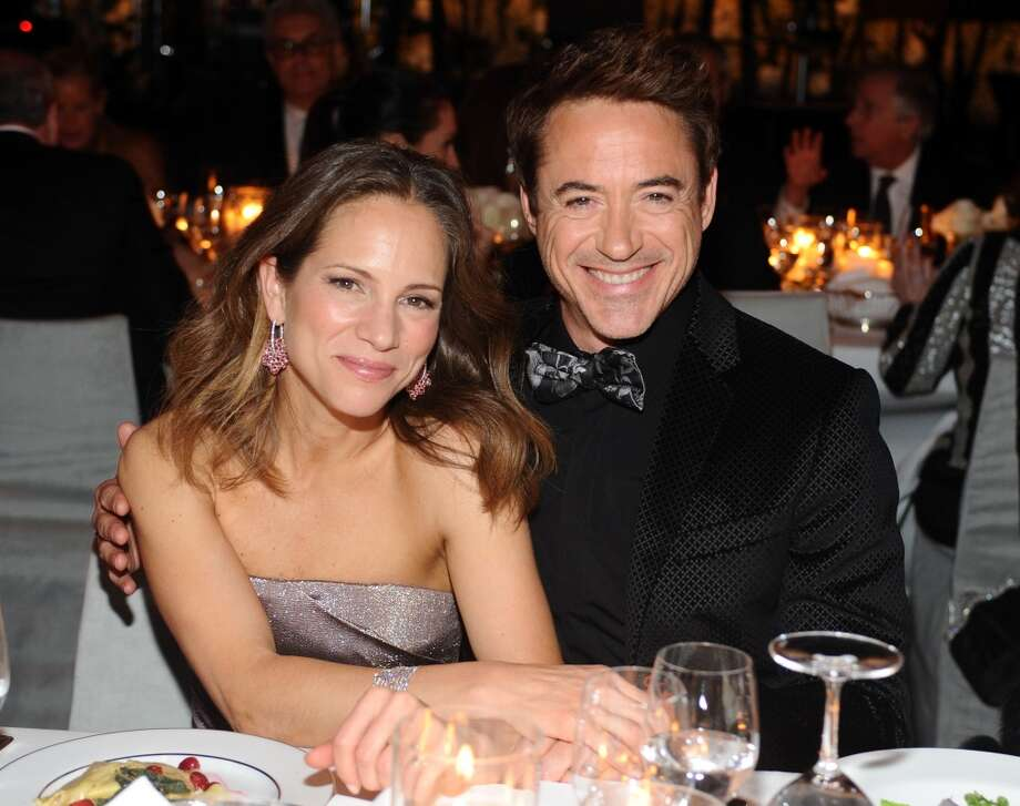 (L-R) Producer Susan Downey and actor Robert Downey Jr., wearing Gucci, attend the LACMA 2013 Art + Film Gala honoring Martin Scorsese and David Hockney presented by Gucci at LACMA on November 2, 2013 in Los Angeles, California. Photo: Stefanie Keenan, Getty Images For LACMA