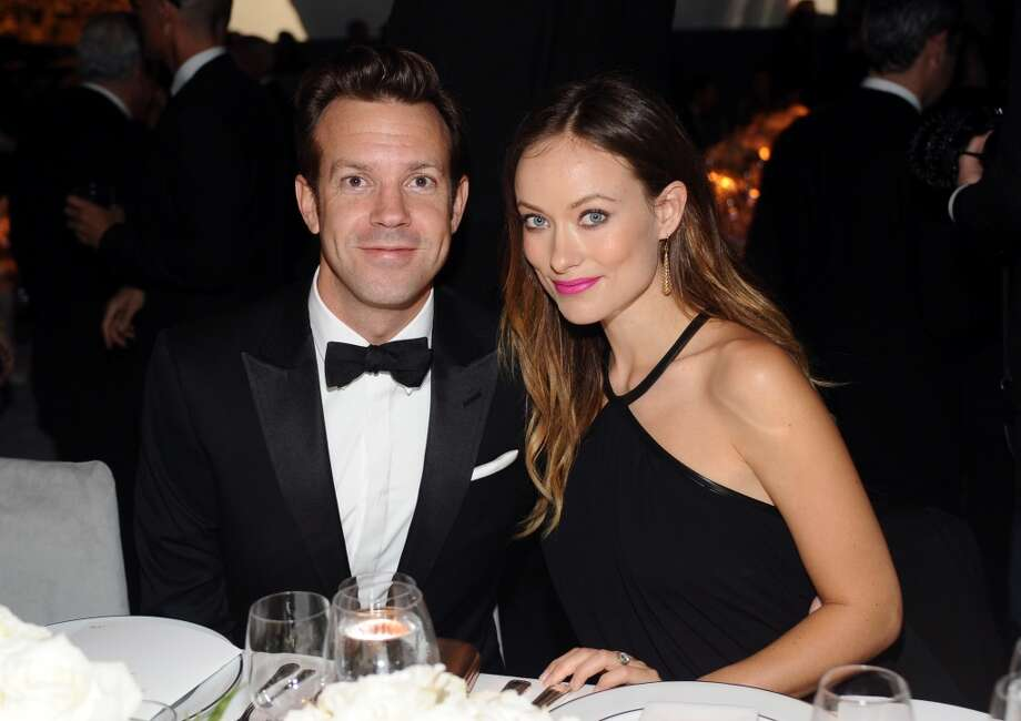 (L-R) Actor Jason Sudeikis and actress Olivia Wilde, wearing Gucci, attend the LACMA 2013 Art + Film Gala honoring Martin Scorsese and David Hockney presented by Gucci at LACMA on November 2, 2013 in Los Angeles, California. Photo: Stefanie Keenan, Getty Images For LACMA