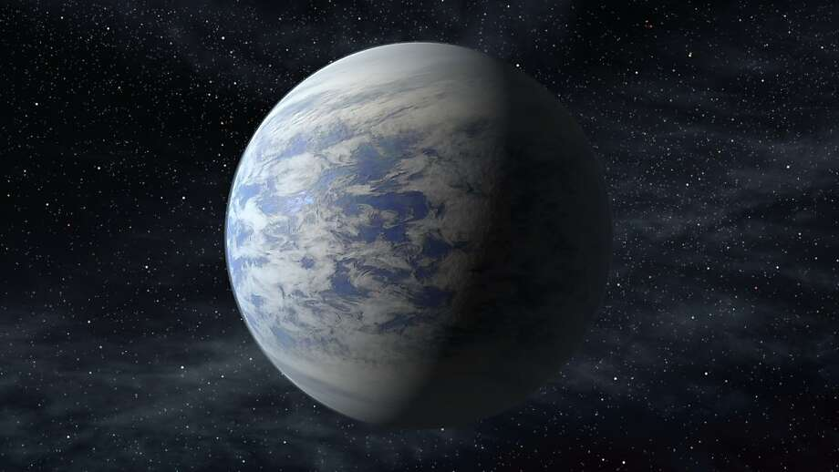 This artist's rendition shows Kepler-69c, an Earth-like planet in the habitable zone of a star like our sun, located about 2,700 light-years from Earth. Photo: Associated Press
