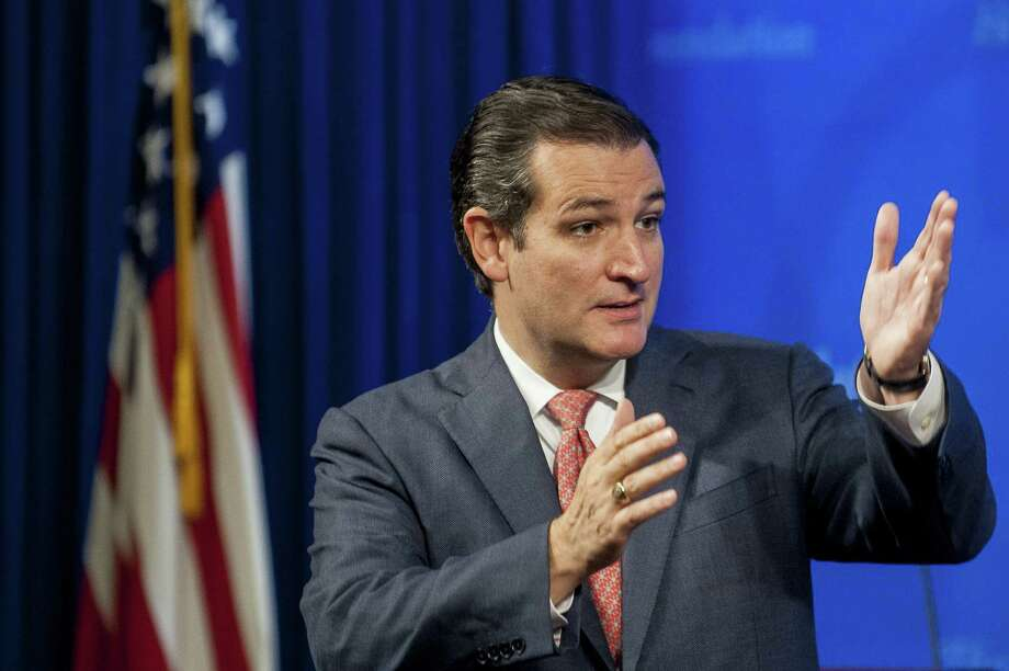 A reader praises U.S. Sen. Ted Cruz (shown speaking at the Heritage Foundation in Washington) for following through on his promises. Photo: Pete Marovich / Bloomberg