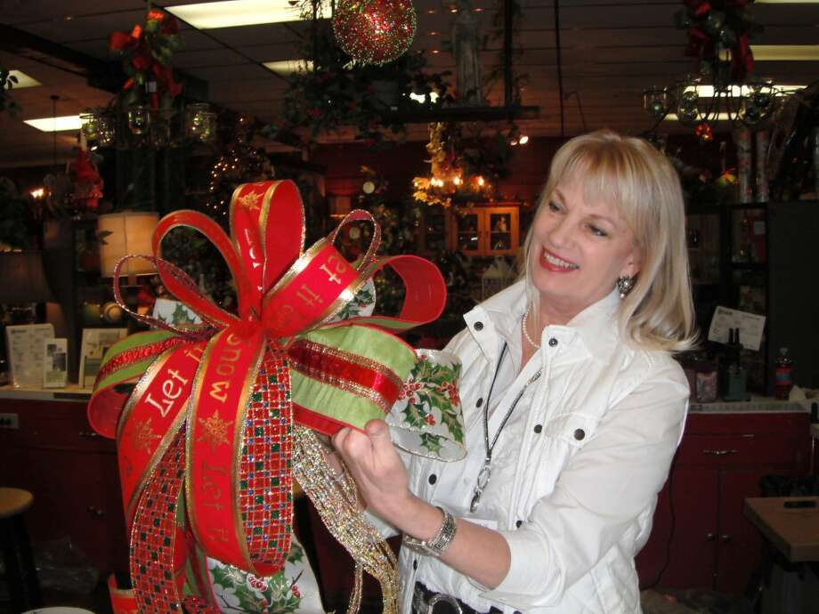 Designer Kay Stephens will demonstrate how to make the Famous Cornelius Bow for packages, mantles and tablescapes during the Open House. Photo: Handout
