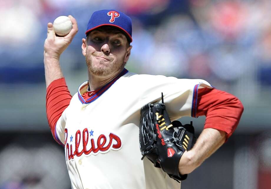 Roy Halladay, a two-time Cy Young Award winner who pitched a perfect game and a playoff no-hitter for the Philadelphia Phillies, died Tuesday when his private plane crashed into the Gulf of Mexico. He was 40. Photo: Michael Perez, Associated Press