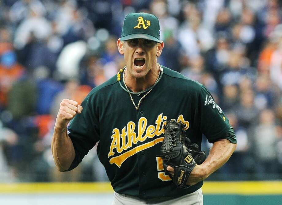 Grant Balfour Relief pitcher 2013 stats: 1-3 record, 38 saves, 2.59 ERA Old team: Oakland Athletics New team: Tampa Bay Rays  Photo: Lon Horwedel, Associated Press