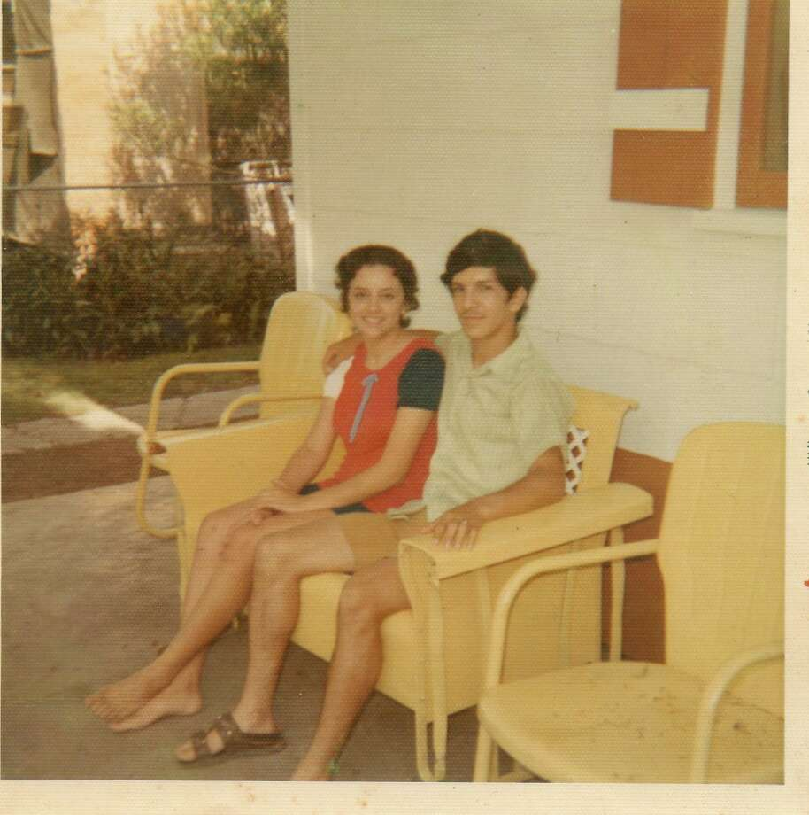 Mike Vallejo and Ofelia Valdez were 17 and dating in 1971 when they took this photo while sitting on a glider on her mother s front porch. The glider originally belonged to her grandmother. Photo: Handout, Vallejo, Reader Submission
