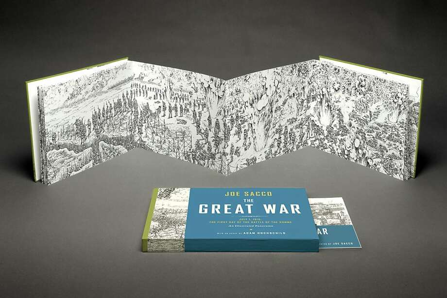 """The Great War"" is a wordless, 24-foot-long panorama. Photo: Simon Lee, W. W. Norton & Company"