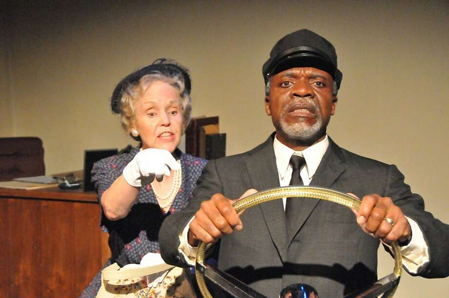 "Ann Kendrick as Daisy Werthan and L. Peter Callender as Hoke in African-American Shakespeare Company's ""Driving Miss Daisy"" Photo: Jay Yamada"
