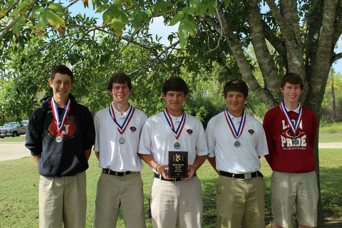 The Pope John XXIII High School Boys Golf Team took second place in the Deer Park Invitational.