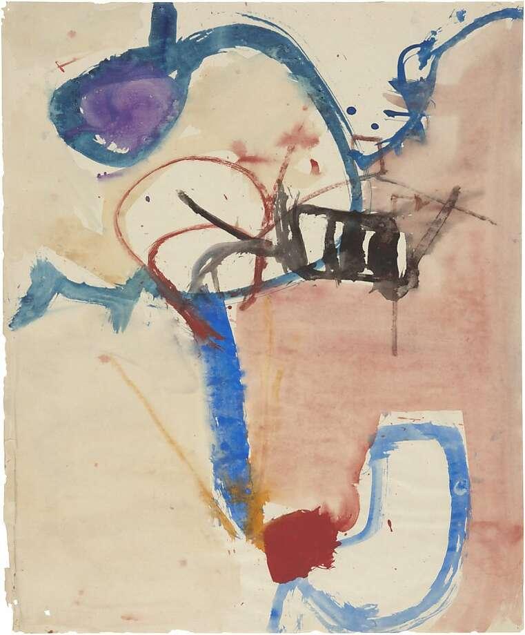 """Untitled (c. 1952 53) Gouache on paper by Richard Diebenkorn 17"""" x 14"""" (orientation unknown) Photo: Unknown"""