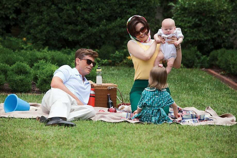 "Rob Lowe is President John F. Kennedy and Ginnifer Goodwin is Jacqueline Kennedy in ""Killing Kennedy."" Photo: Kent Keanes, National Geographic Channel"