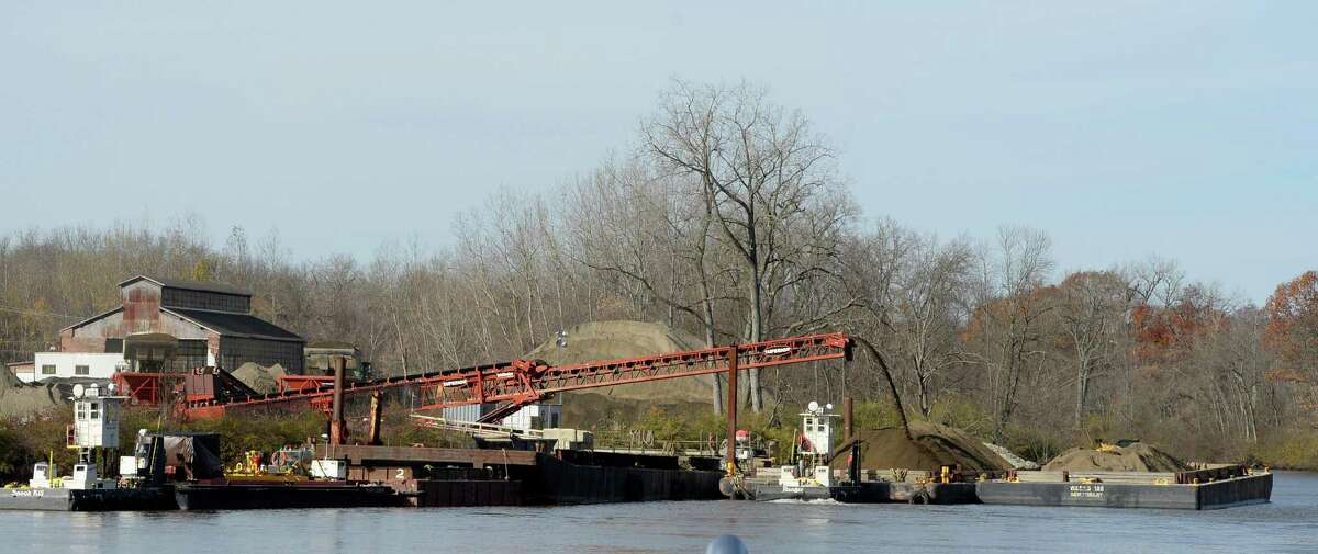 Dredging crews continue to work on the river Nov. 4, 2013 in Schuylerville, N.Y. (Skip Dickstein/Times Union