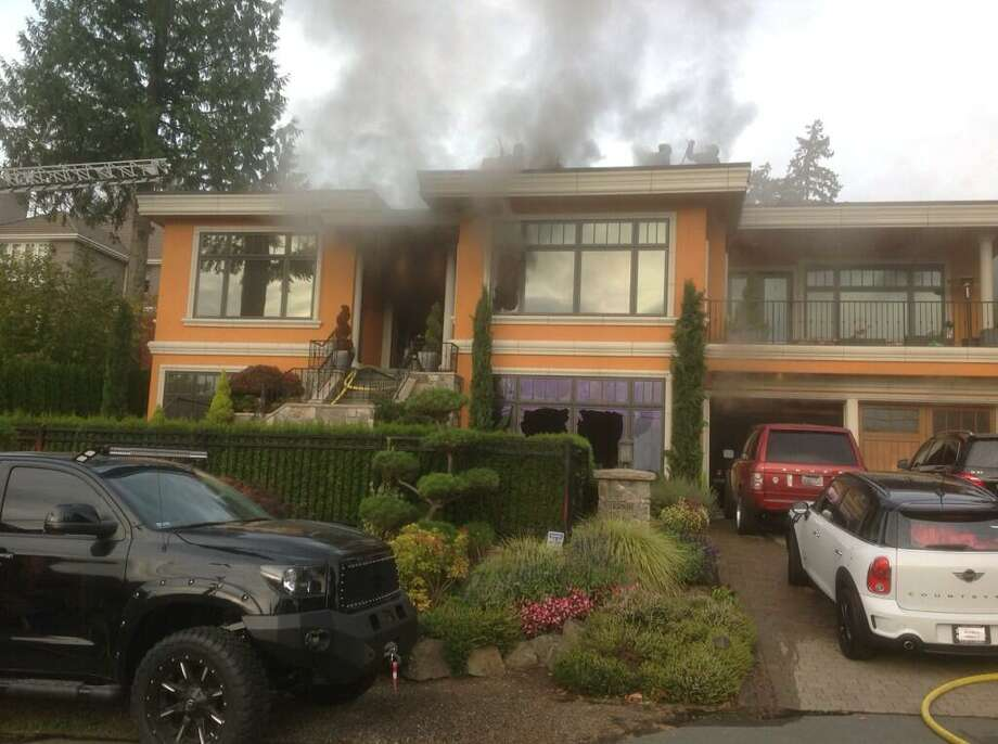 The Bellevue Fire Department posted this photo of a fire at a house that Seattle Mariner's pitcher Felix Hernandez ownsat 3:42 p.m. on Nov. 4, 2013. Photo: Bellevue Fire Department
