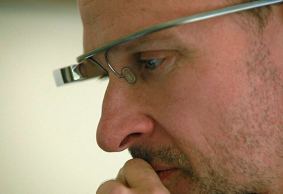 Dr. Brian Sebastian of Sonoma has begun using Google Glass on patient visits. Photo: Liz Hafalia, The Chronicle