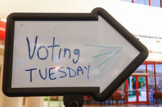 Polls are open Tuesday at Houston's Metropolitan Multi-Service Center. Photo: Johnny Hanson, Houston Chronicle