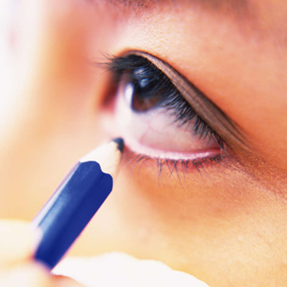 "Mistake: Using a liquid or marker liner on the bottom lash line.""Doing so will make eye makeup instantly look harsh! Instead, softly apply eye shadow with a small brush at the bottom lash line to frame eyes."" — Mirabella Beauty Creative Director Amber Bowen.Source: HealthyLife magazine Photo: Daj/Amana Images"