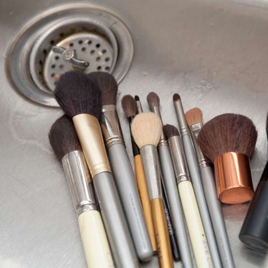 "Mistake: Not washing your makeup brushes.""You should be washing your makeup brushes once a week. A gentle baby shampoo or brush cleanser will do the trick. Squeeze out the color, and let them air dry."" — Tina Barbato, independent make-up consultant in the Capital Region (flawlessbytina.com).Source: HealthyLife magazine"