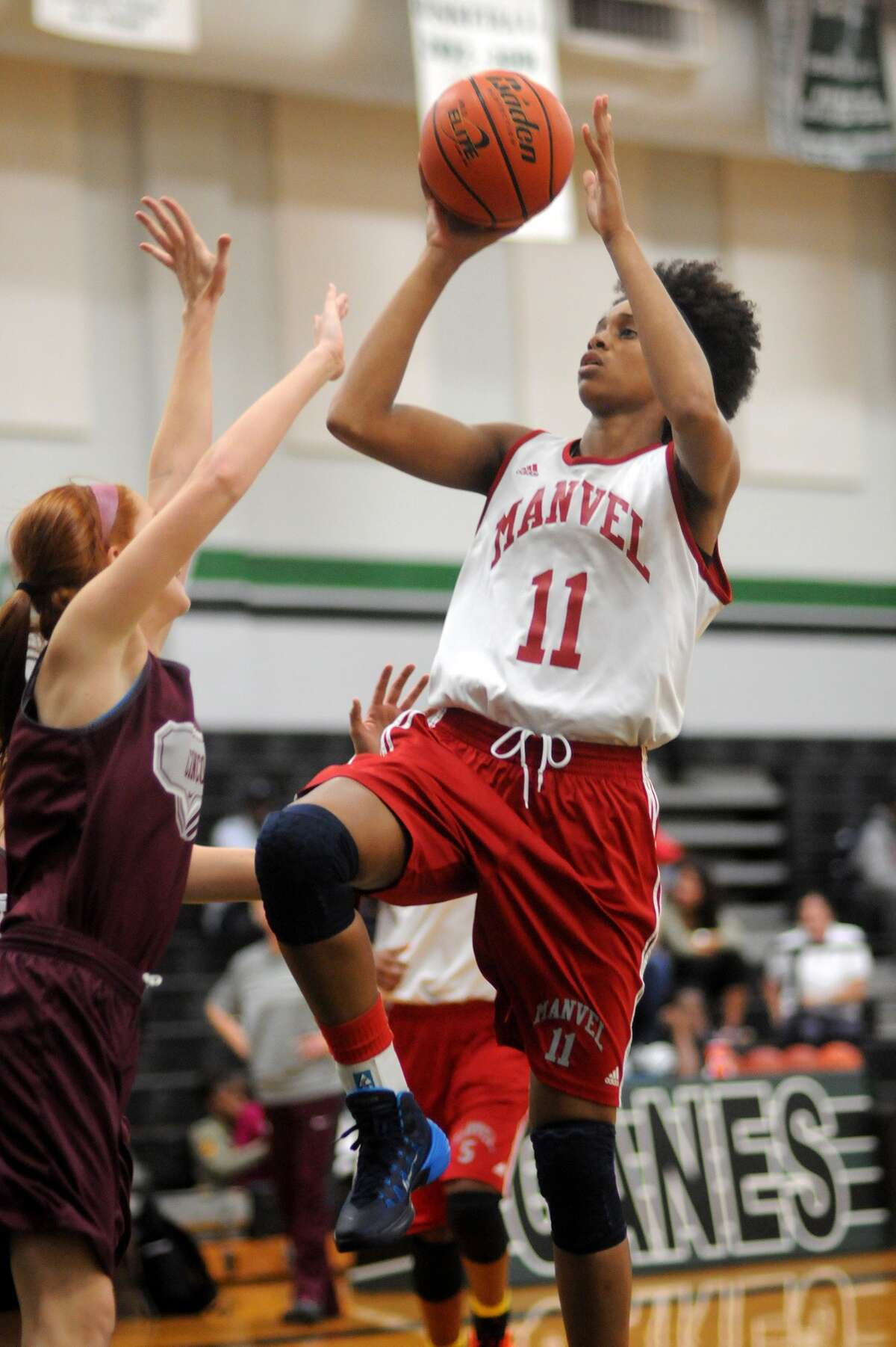 Manvel senior forward Brianna Turner (11) is one of the nation's best juniors and a three-time international gold medal winner with USA Basketball.