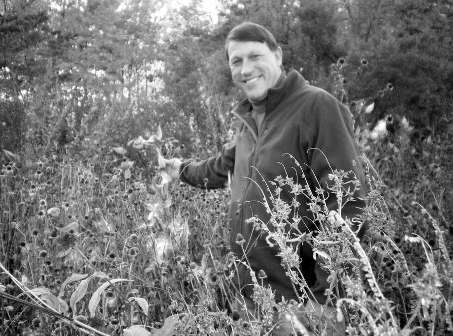 Greenwich Audubon Land Steward Andy Chapin is focused on planting native plants, creating habitat, and controlling invasive plants. Photo: Contributed Photo / Greenwich Citizen