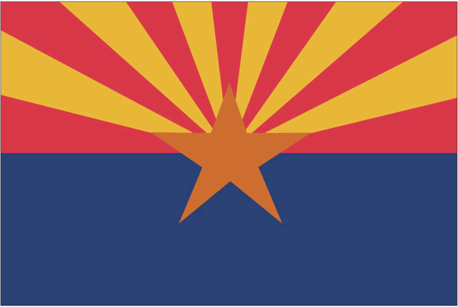 Arizona flag Photo: Globe Turner, LLC, Getty Images/GeoNova Maps / GeoNova Maps