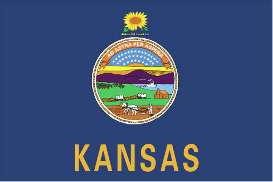Kansas flag Photo: Globe Turner, LLC, Getty Images/GeoNova Maps / GeoNova Maps