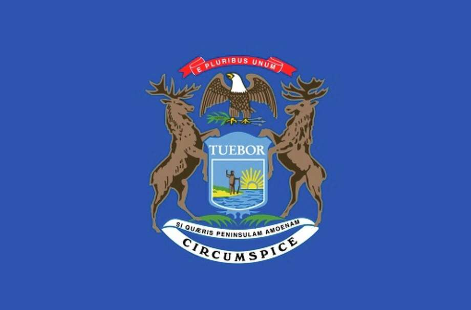 Michigan state flag Photo: Encyclopaedia Britannica/UIG, Getty Images/Universal Images Group / Universal Images Group