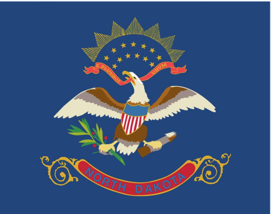 North Dakota flag Photo: Antenna Audio, Inc., Getty Images/GeoNova Maps / GeoNova Maps