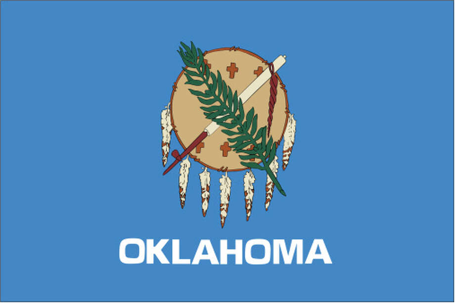 Oklahoma flag Photo: Globe Turner, LLC, Getty Images/GeoNova Maps / GeoNova Maps
