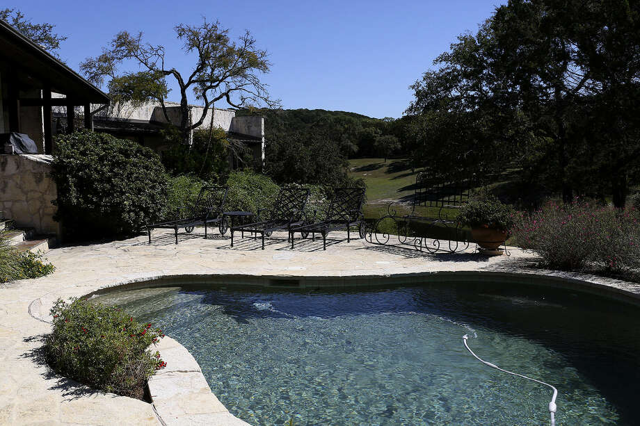 The pool of Darla Farris' home in Wimberly offers bucolic views of the Texas Hill Country.
