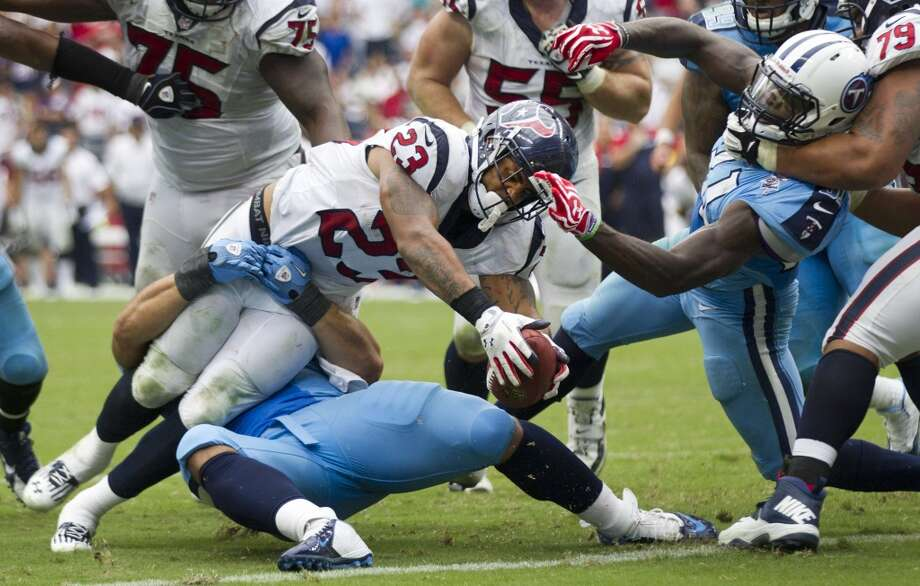 Running backsDespite injuries keeping Arian Foster on the bench for most of the last two games, they average 129.6 yards a game and 4.5 yards a carry. But they have only two touchdowns rushing.  Grade: B Photo: Brett Coomer, Houston Chronicle
