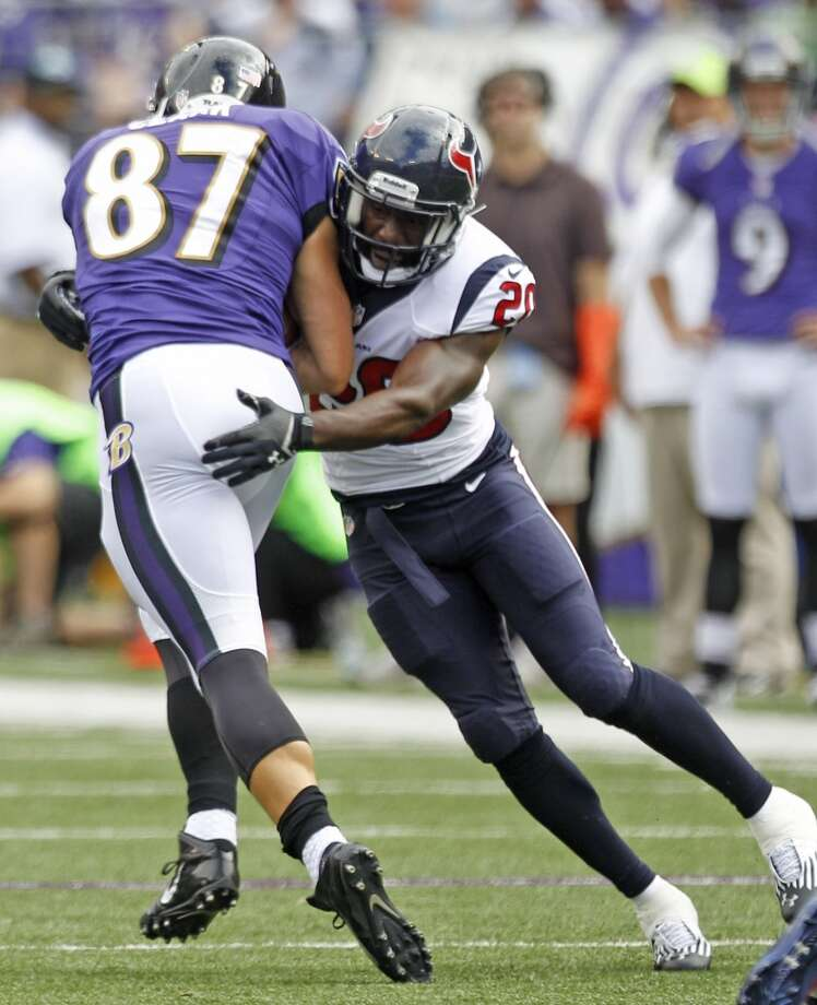 SecondaryThe coverage has ranged from awesome to awful, and they still have to play Tom Brady and Peyton Manning at home and Andrew Luck on the road. Ed Reed has yet to make an impact. They miss the injured Danieal Manning.  Grade: C Photo: Brett Coomer, Houston Chronicle