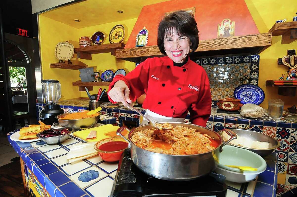 Sylvia Casares teaches how to make tamales for the holidays at the Sylvia's Enchilada Kitchen at 6401 Woodway.