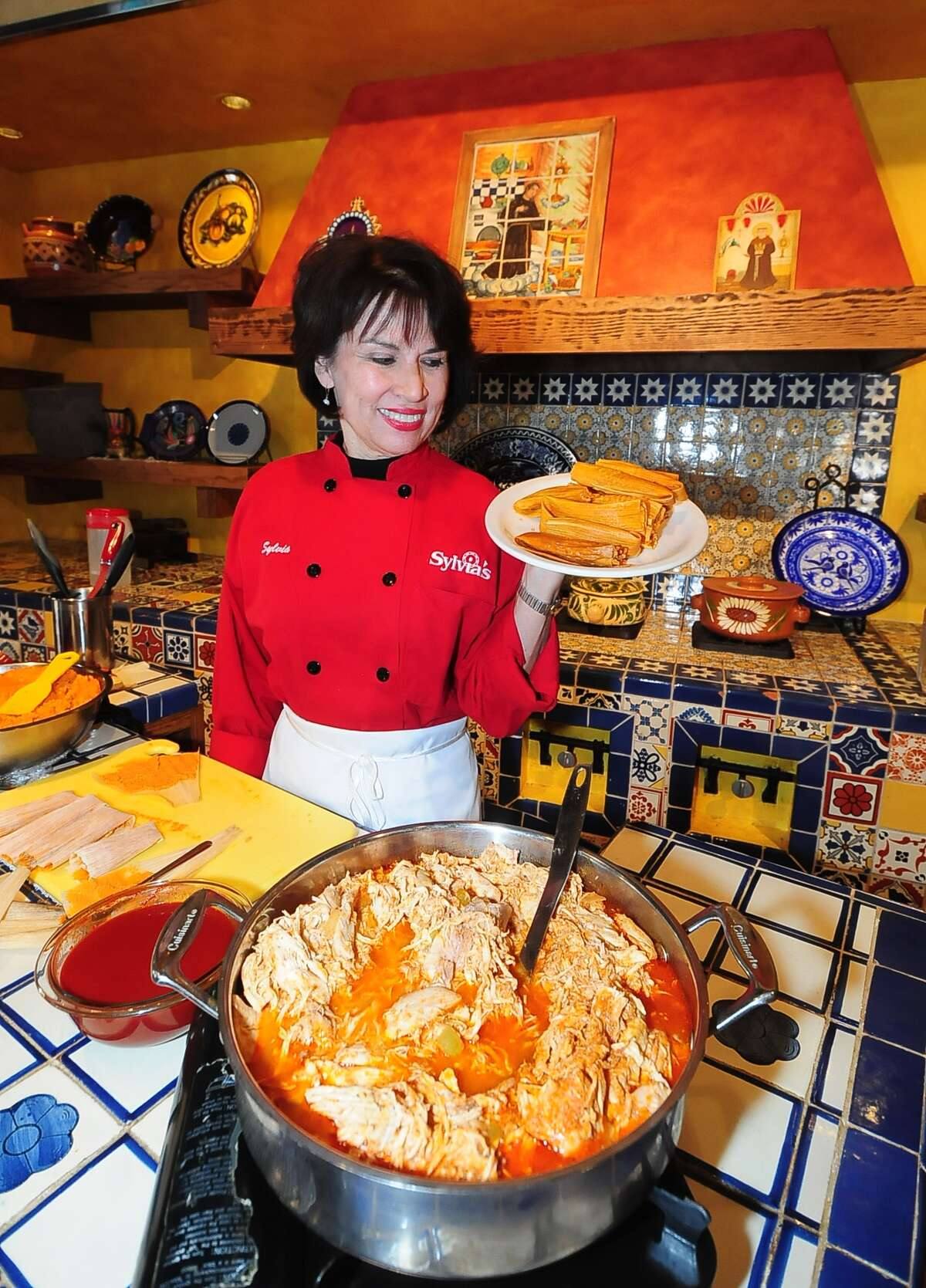 Sylvia Casares says she teaches a simplified way to make tamales, a favorite holiday dish in Texas.