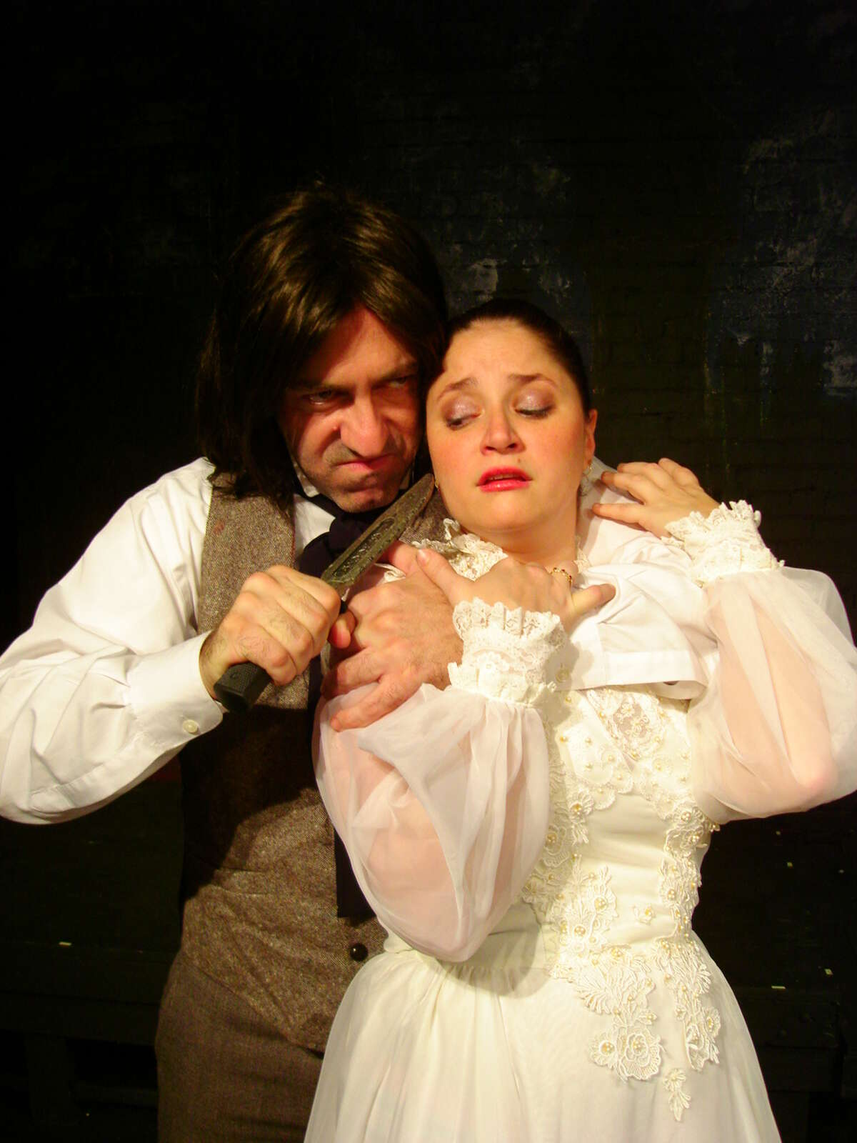 Dr. Jekyll (Luther Chakurian) is about to marry his intended, Emma (Monica Passley) when Mr. Hyde makes an unwanted appearance in the Fort Bend Theatre production of