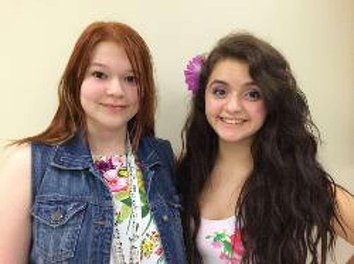 Amanda Craig, left, and Cristal Magdaleno attend Porter High School.