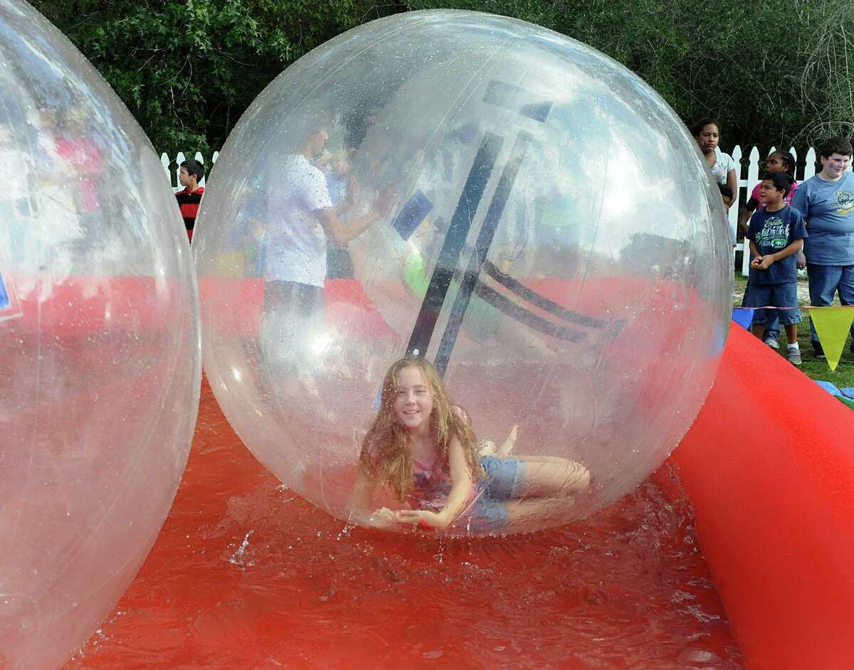 The Children's Festival at The Cynthia Woods Mitchell Pavilion will include the performing and visual arts for children as well as bubble runners, above, seen at last year's event.