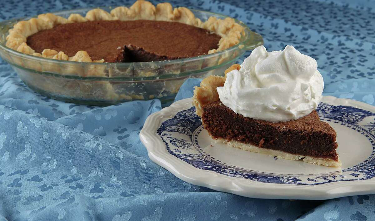 Fudge pie photographed in the Houston Chronicle studio Thursday, Jan. 6, 2011, in Houston ( James Nielsen / Houston Chronicle )