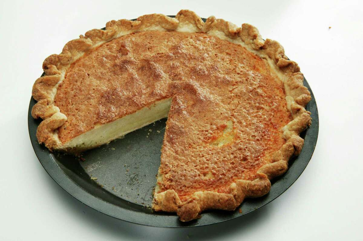 2) Buttermilk pie - either pie with slice cut out or slice of pie on small plate, which ever looks best. Whole Pie slice out (AC Studios for the Chronicle) HOUCHRON CAPTION (09/01/2004): FAVORITE RECIPE: Florine Brzowski sends this buttermilk pie recipe, which takes an hour to bake and a fraction of that time to eat.