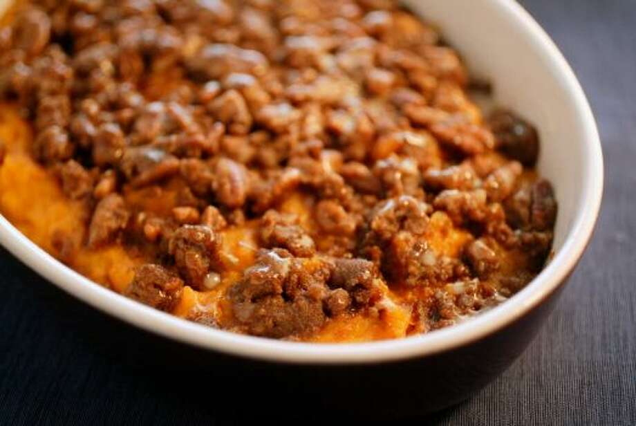Sweet Potato SouffleWho needs marshmallows when you can top these spuds with brown sugar and pecans? Read the recipe
