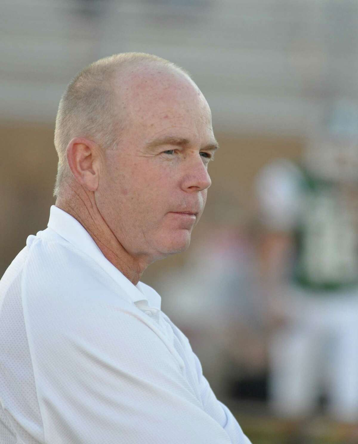Strake Jesuit football coach Ron Counter against Alief Taylor.